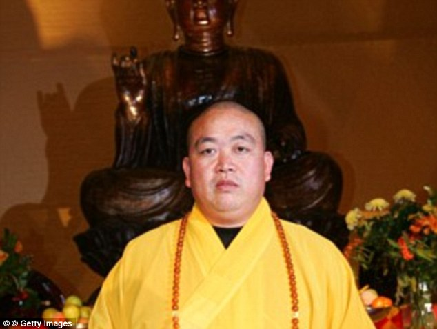 Investigation: The Denfeng city government has said it will look into the allegations made against Shi Yongxin Read more: http://www.dailymail.co.uk/news/article-3189479/Woman-posts-pictures-underwear-wore-bed-scandal-hit-celibate-head-monk-Zen-Buddhist-kung-fu-Shaolin-Temple.html#ixzz3iatNzvOZ  Follow us: @MailOnline on Twitter | DailyMail on Facebook