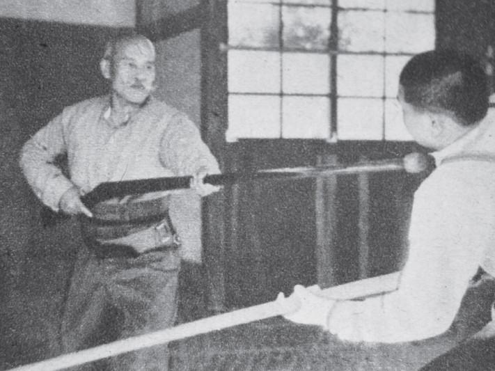 Döfés bajonettel (Juken) Noma Dojo, 1935