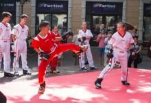 Kick-bokszosokat csodáltak a csabai járókelők