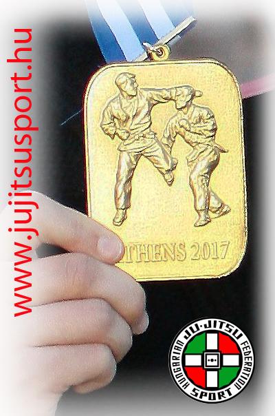 Tóth Anett aranyérem ZR Team Orgivány 2017 - VB Athen JJIF junior