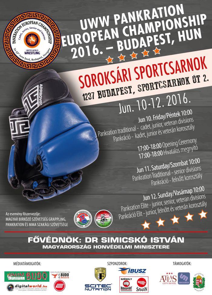 UWW Pankration EC 2016 Budapest HUN