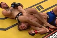 Rekordnézettség alatt törték el hajszál híján az UFC reménységének karját