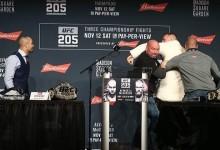 Már megint majdnem elszabadult a pokol a UFC 205 sajtótájékoztatóján