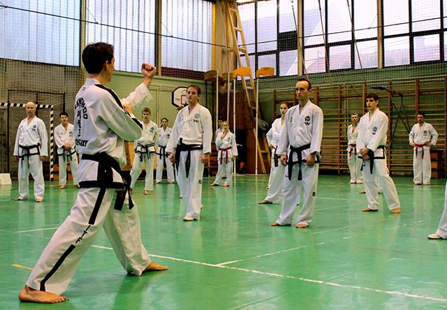 A Magyar ITF Taekwon-do Válogatott keretének edzésén