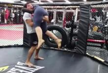 VIDEÓ: így edz a térdműtét után a veretlen UFC-s bajnok